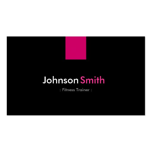 Fitness Trainer Modern Rose Pink Business Card