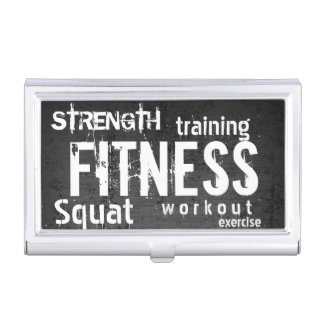 Fitness Trainer Professional Dark Business Card Holder