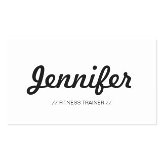 Fitness Trainer - Stylish Simple Concise Double-Sided Standard Business Cards (Pack Of 100)