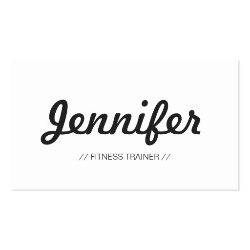 Fitness Trainer - Stylish Simple Concise Business Card Template