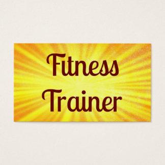 Fitness Trainer Sunshine Business Card