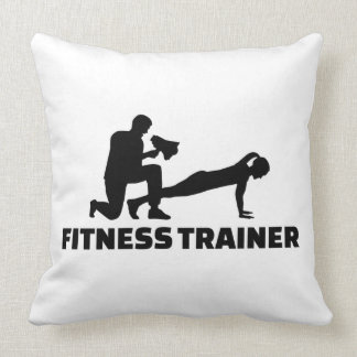 Fitness trainer throw pillow