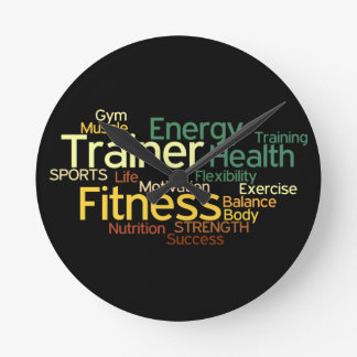 Fitness & Trainer Wall Clock