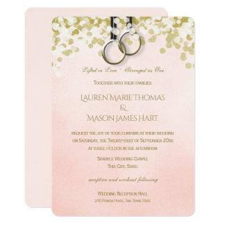 Fitness Training Gymnastic Rings Wedding Card