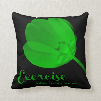 Fitness Tulip Green Exercise Pillow