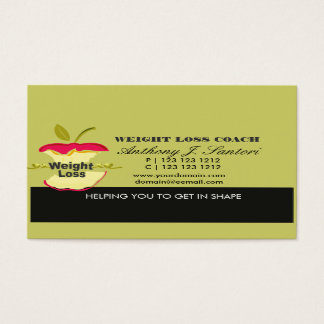 Fitness Weight Loss Coach Dietician Business Card