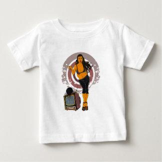 Fitness Women Workout TV Bowling Black Baby T-Shirt