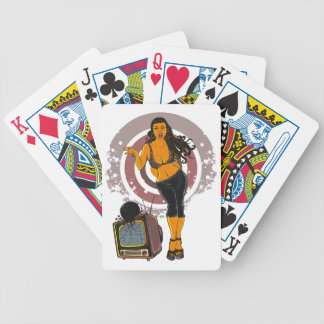 Fitness Women Workout TV Bowling Black Bicycle Playing Cards