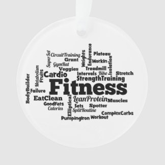 Fitness Word Cloud Ornament