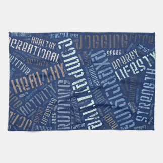 Fitness words kitchen towel