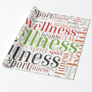 Fitness words wrapping paper