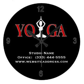 Fitness Yoga Pose Wall Clock