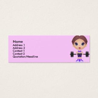 fitnessbuddie, Name, Mini Business Card