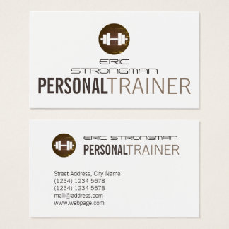 Fitnesss dumbbell style cover business card