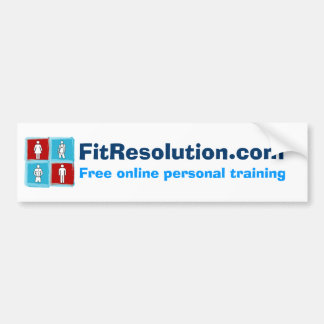 FitResolution - Bumper Sticker! Bumper Sticker