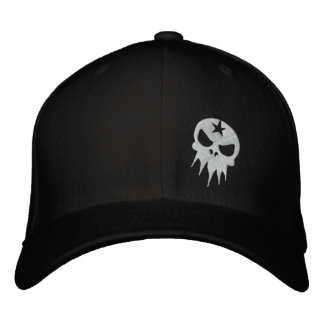 Fitted Embroidered Skull Hat Embroidered Hat