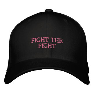 FITTED HAT-Support breast cancer statement Embroidered Hat