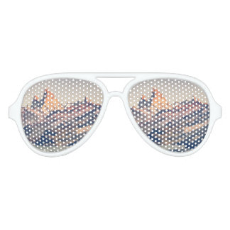 Fitz Roy and Poincenot Andes Mountains - Patagonia Aviator Sunglasses