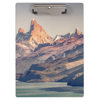 Fitz Roy and Poincenot Andes Mountains - Patagonia Clipboard