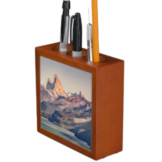 Fitz Roy and Poincenot Andes Mountains - Patagonia Desk Organizer