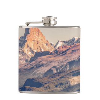 Fitz Roy and Poincenot Andes Mountains - Patagonia Hip Flask