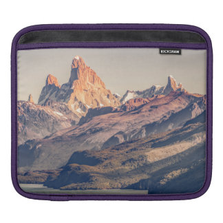 Fitz Roy and Poincenot Andes Mountains - Patagonia iPad Sleeve