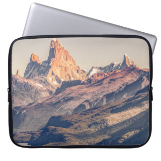 Fitz Roy and Poincenot Andes Mountains - Patagonia Laptop Sleeve