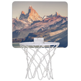 Fitz Roy and Poincenot Andes Mountains - Patagonia Mini Basketball Hoop