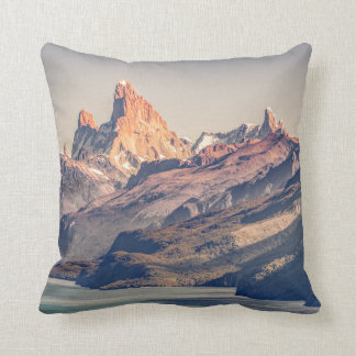 Fitz Roy and Poincenot Andes Mountains - Patagonia Throw Pillow
