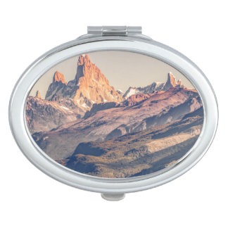 Fitz Roy and Poincenot Andes Mountains - Patagonia Vanity Mirror