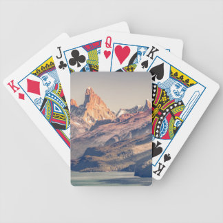 Fitz Roy and Poincenot Mountains Patagonia Bicycle Playing Cards