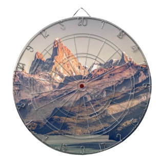 Fitz Roy and Poincenot Mountains Patagonia Dartboard