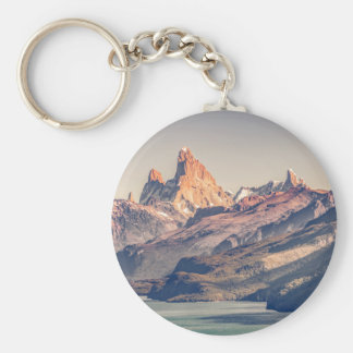Fitz Roy and Poincenot Mountains Patagonia Keychain