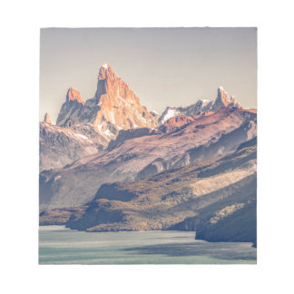 Fitz Roy and Poincenot Mountains Patagonia Notepad