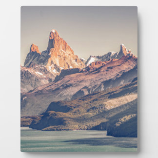 Fitz Roy and Poincenot Mountains Patagonia Plaque