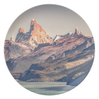Fitz Roy and Poincenot Mountains Patagonia Plate