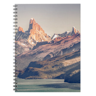Fitz Roy and Poincenot Mountains Patagonia Spiral Notebook