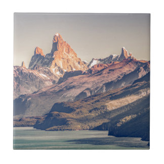 Fitz Roy and Poincenot Mountains Patagonia Tile