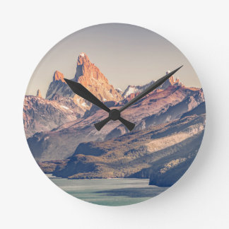 Fitz Roy and Poincenot Mountains Patagonia Wall Clocks