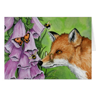 Fitzgerald Fox in the foxgloves Card