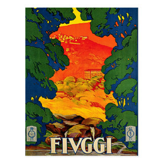 Fiuggi Italy Vintage Travel Advertisement Art Postcard