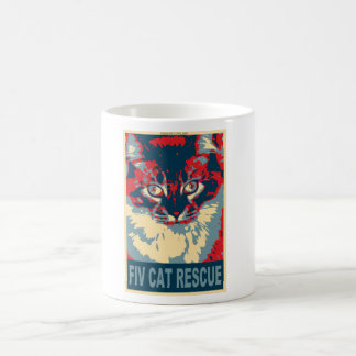 fiv cat rescue logo cup