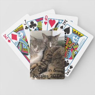 FIV cats playing cards-Griffin and Zazzles Bicycle Playing Cards