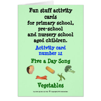 Five a day - Vegetables note size Sample card