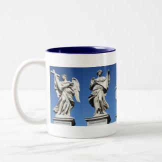 five angels Two-Tone coffee mug