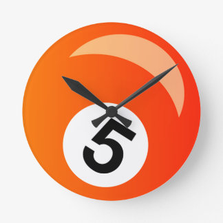 Five Ball Round Clock