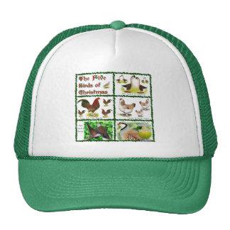 Five Birds of Christmas Trucker Hat