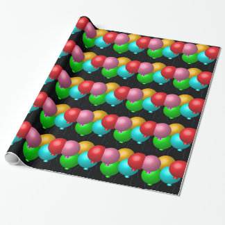 Five Birthday Balloons Wrapping Paper