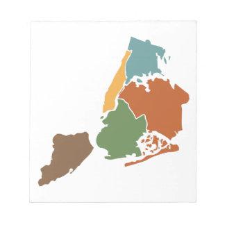 Five Boroughs New York Notepads