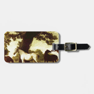 Five Brood Mares by George Stubbs Luggage Tag